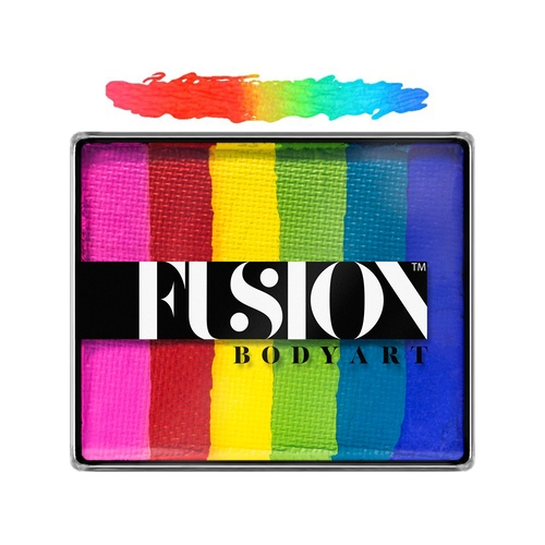 Fusion Body Art Face Painting Rainbow Cakes – Bright Rainbow | 50g
