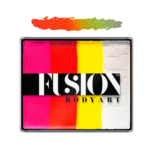 Fusion Body Art Face & FX Rainbow Cakes – Tropical Tiger | 50g